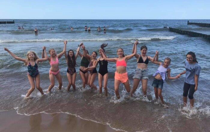 Radość nad morzem